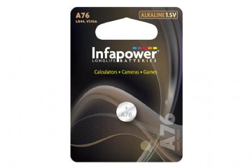 Infapower 1.5V Coin Cell Battery L911 A76 LR44 Alkaline